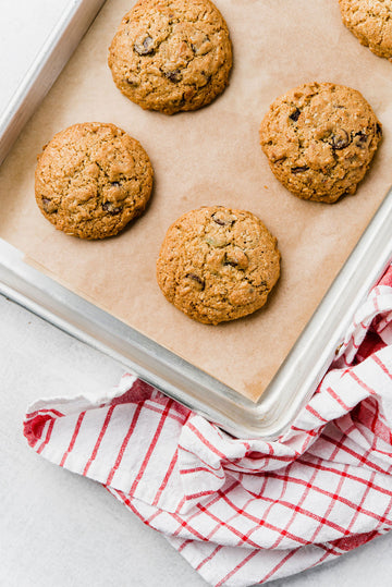 Seedy Oatmeal Chocolate Chip Cookies