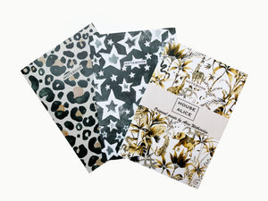 SET OF THREE NOTEBOOKS - NATURAL COLLECTION