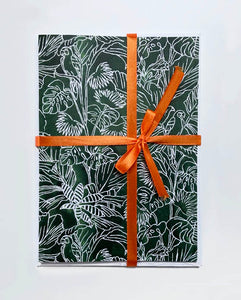 JUNGLE GREENS STATIONERY BOX