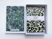 Load image into Gallery viewer, JUNGLE GREENS STATIONERY BOX