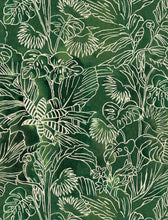 Load image into Gallery viewer, Linear Jungle Organic Half Panama fabric