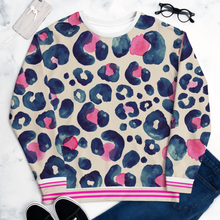 Load image into Gallery viewer, Oversized Leopard hot pink and navy - Sweatshirt