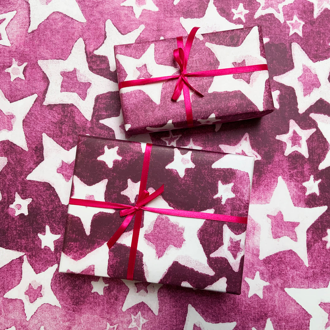 ZIGGY STARDUST WRAPPING PAPER - HOT PINK