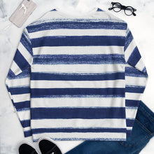 Load image into Gallery viewer, BRUSHED STRIPE NAVY SWEATSHIRT