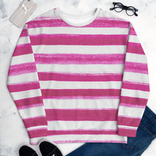 Load image into Gallery viewer, BRUSHED STRIPE HOT PINK SWEATSHIRT