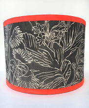 Load image into Gallery viewer, Linear Tropical Lampshade - Monochrome