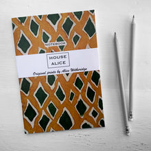 Load image into Gallery viewer, OVERSIZED DIAMOND SNAKE NOTEBOOK - OCHRE