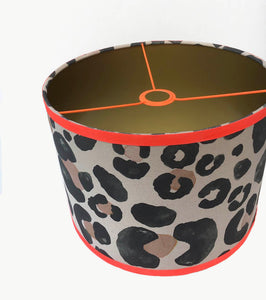 Oversized Leopard Black and Cream lampshade