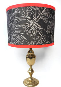 Linear Tropical Lampshade - Monochrome