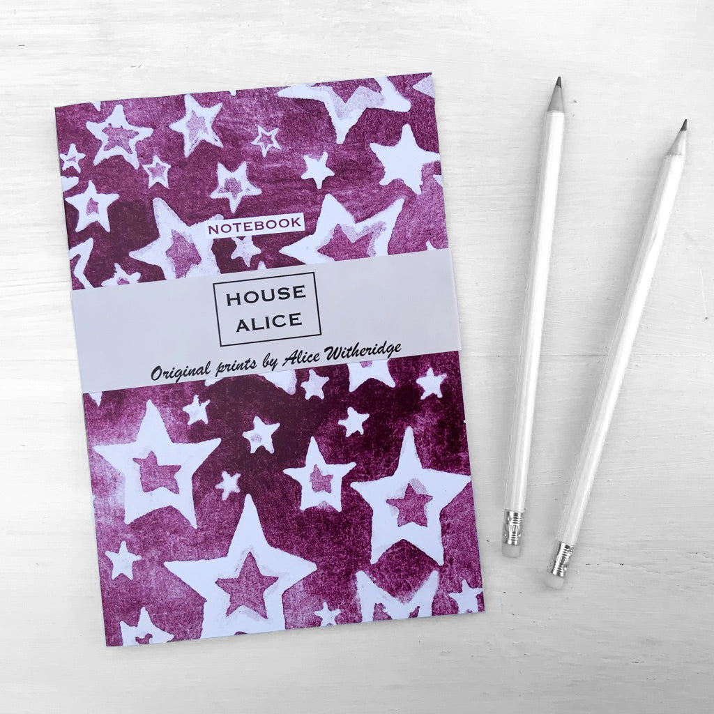 ZIGGY STARDUST NOTEBOOK - HOT PINK