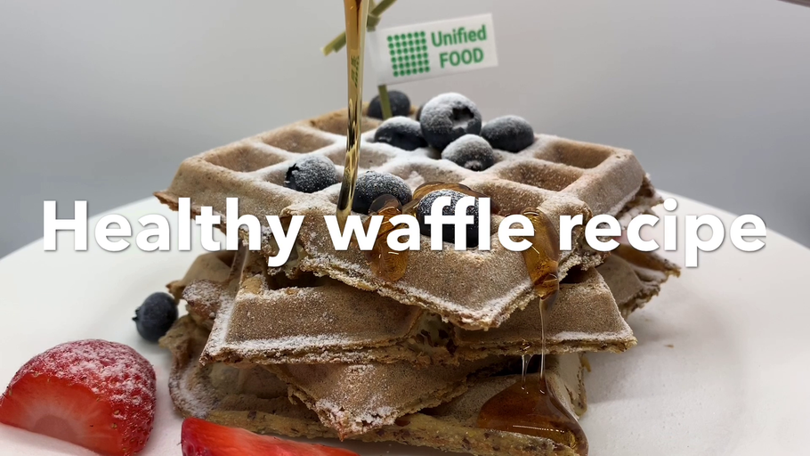 Healthy waffle recipe. Nutritionally complete meal.