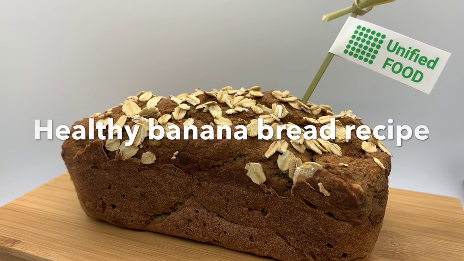 Banana bread recipe. Nutritionally complete meal.