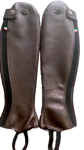 D due Brown Soft Leather Half Small Chaps