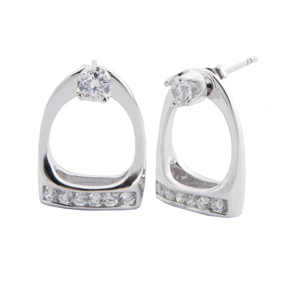 Stirrup Crystal Earrings