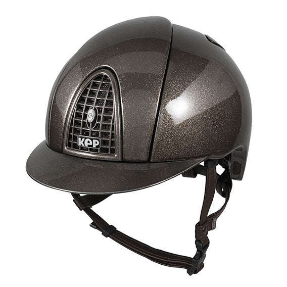 KEP Cromo Metal Flakes Brown Helmet