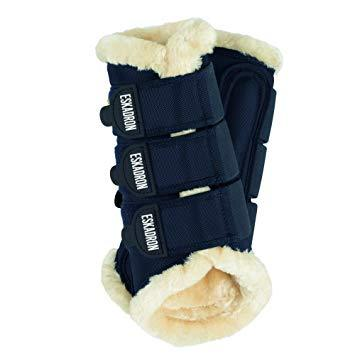 Eskadron Faux Fur Medium Navy Tendon Boots