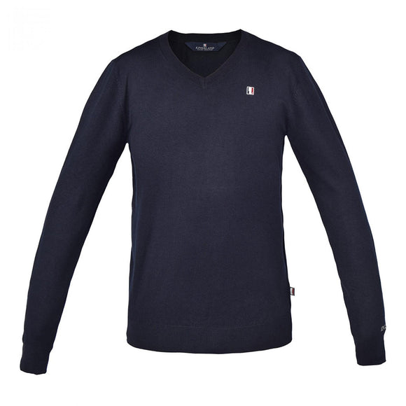 Kingsland Classic Mens Knitted Pullover V-Neck Navy KLC-KN-410