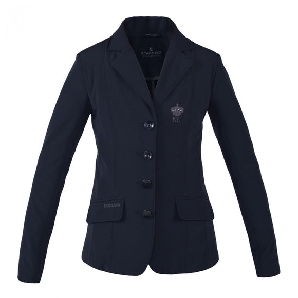 Kingsland Girls Classic Woven Softshell Show Jacket Navy KLC-SJ-904
