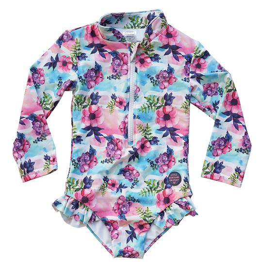 LRC Pastel Posies Long Sleeve One Piece