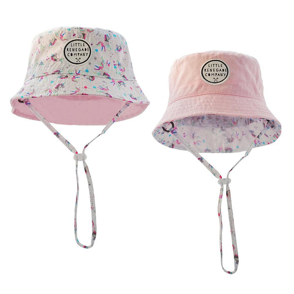 LRC Sparkles Unicorn Reversible Bucket Hat