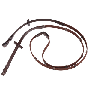 Stubben Web Reins Narrow 5 Leather Stops With Hook Studs 6110011