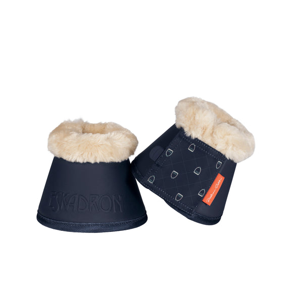 Eskadron Faux Fur Small Navy Platinum Bell Boots