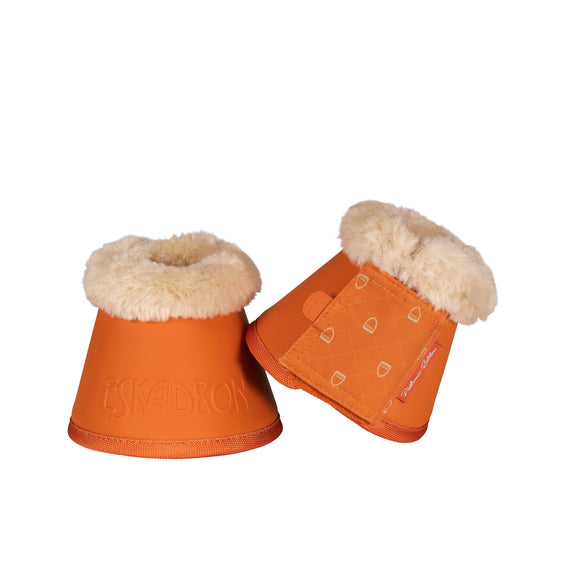 Eskadron Faux Fur Small Orange Platinum Bell Boots