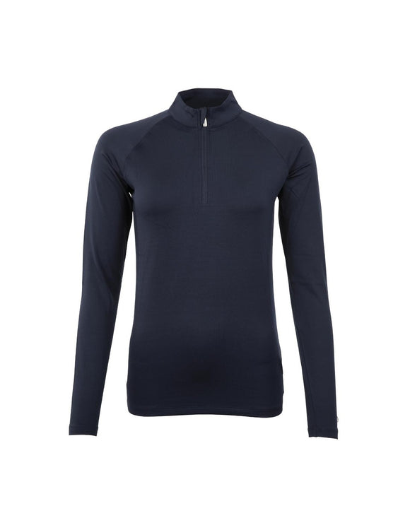 BR Event Navy Half Zip Longsleeve Shirt For Australian Equestrian
