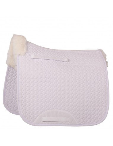 BR Spinal Clearance Dressage Half Lined Sheepskin Saddle Pad 166029