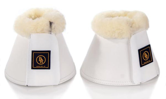 BR Sheepskin Medium White Bell Boots