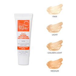 "Deluxe Trial Tube - ""5 IN 1"" NATURAL MOISTURIZING FACE SUNSCREEN SPF 30 - TINTED"
