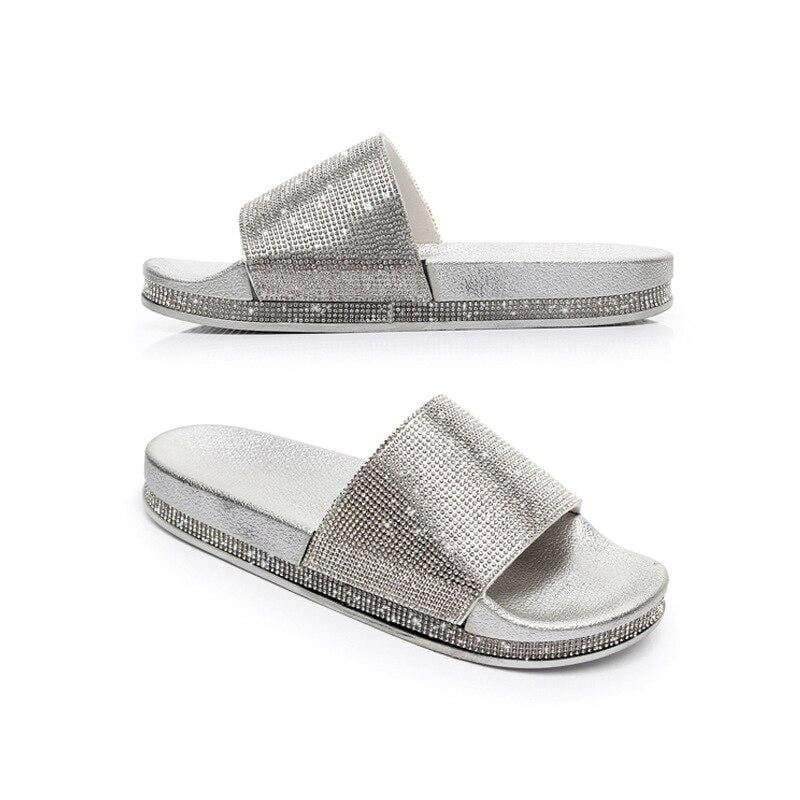 Gold/ Silver Slippers - WholeBlue