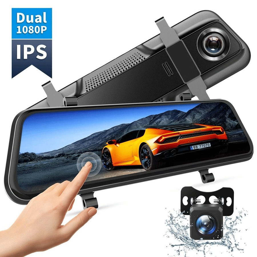 1080P FHD Dash-cam/Rear-cam Smart Mirror (Big Sale🔥)