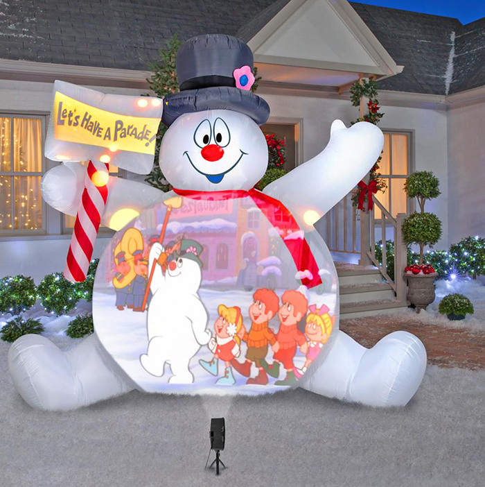 The Video Projecting 10' Frosty The Snowman/ Lawn Lamp