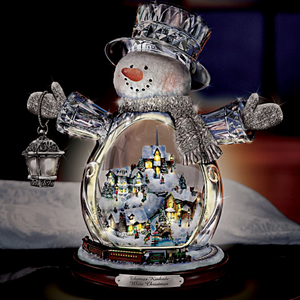🎁Only $13.9🎁Paintings-Wonderland Express-Masterpiece Edition Crystal Snowman