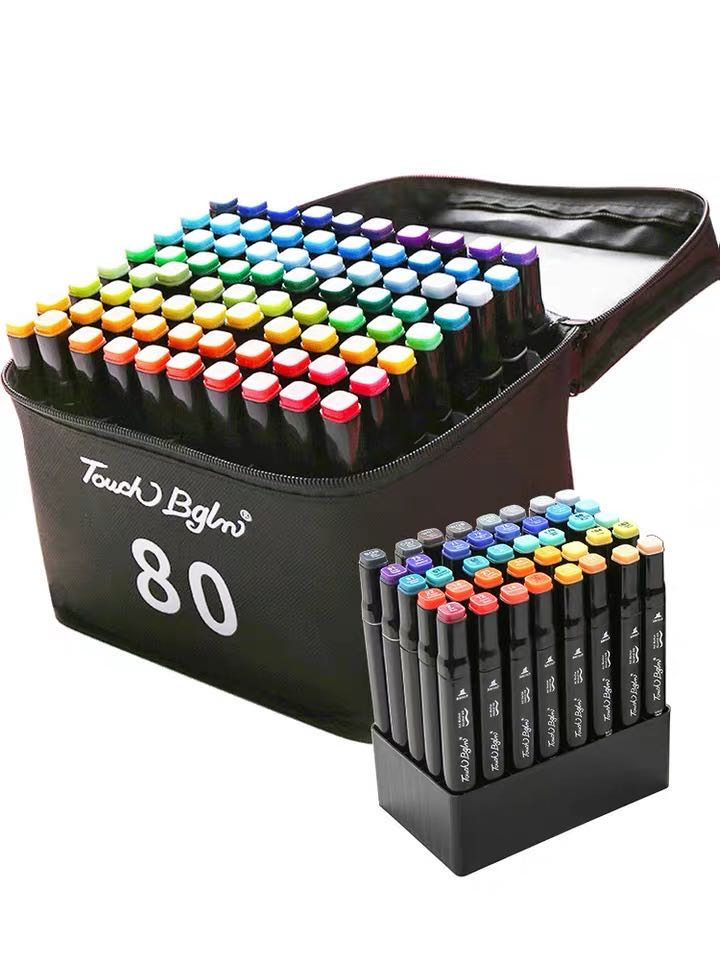 Marker Pen Hand-painted Pen Set Student(Send base+Exquisite gift box)