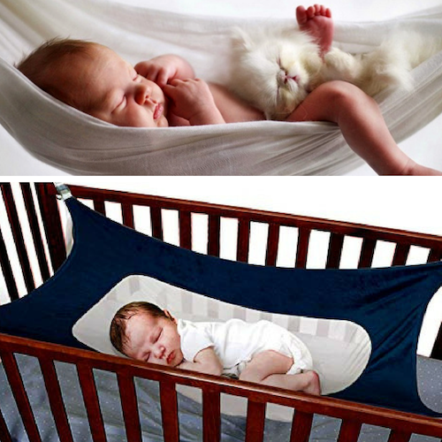 CatchieBaby Infant Baby Hammock (Detachable Baby Crib With Adjustable Net)