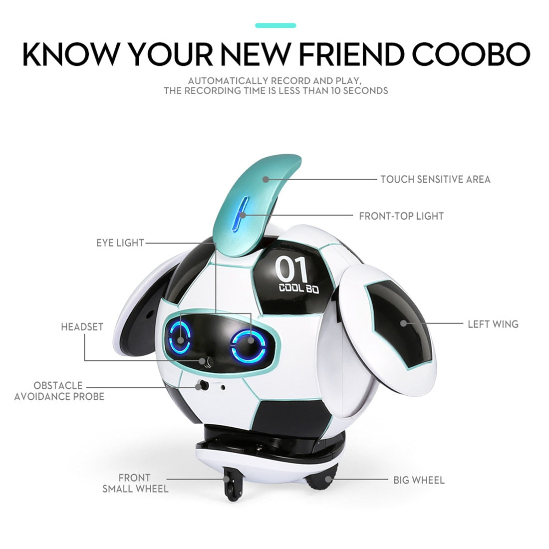 Children's Science And Education Toy Voice Recognition Robot