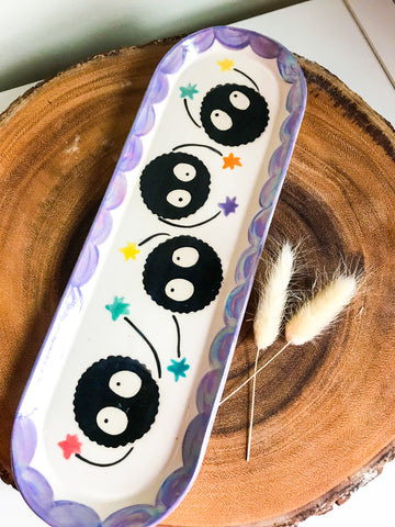 Soot Sprite Long Dish- Lavender Border