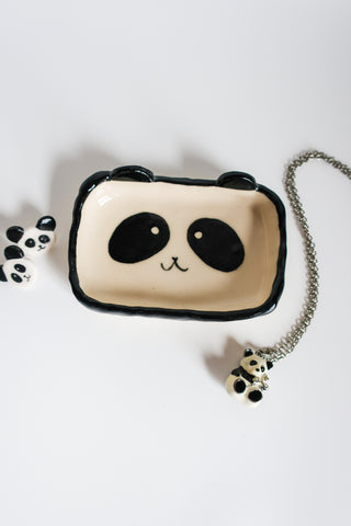 Panda Trinket Dish - Rectangular