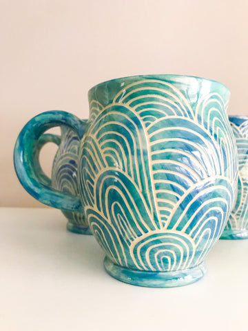 Mini Cup- Nerdy Bear- Blue