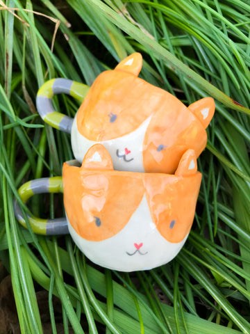 Espresso Cup Single- Orange Kitty