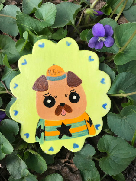 Miniature Animal Portrait Magnet- Stan the Pug