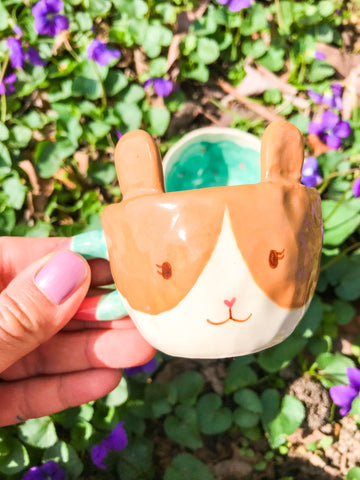 Espresso Cup Single- Brown Bunny