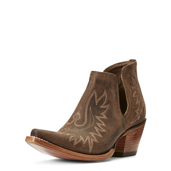 WOMEN'S Dixon Western Boot Weathered Brown