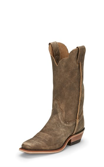 WOMEN'S JUSTIN BENT RAIL MARFA DISTRESSED BROWN WESTERN BOOTS BRL126