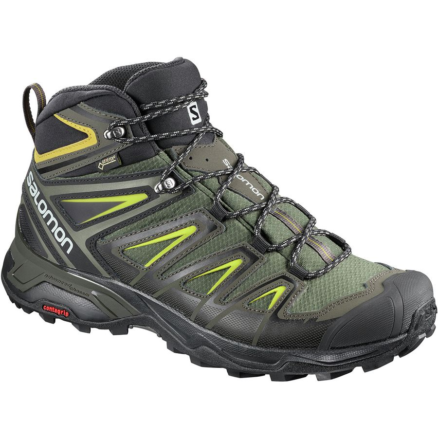 Salomon X Ultra 3 Mid GTX Hiking Boot - Men's Castor/Grey L40133700
