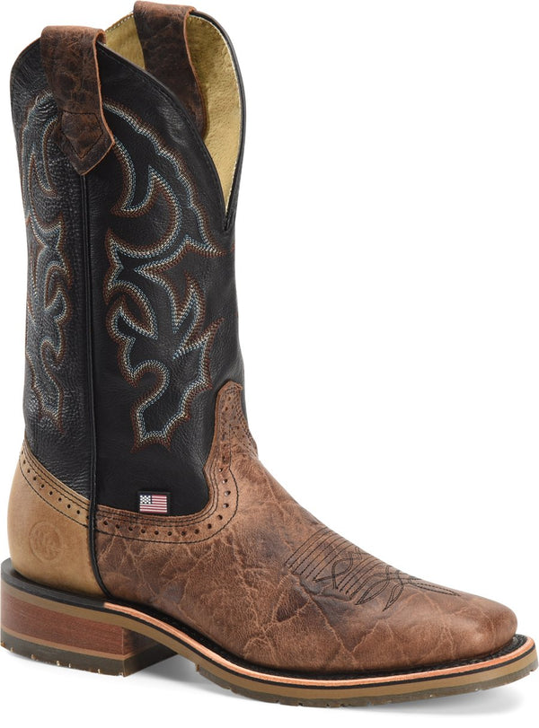 "Men's 12"" Domestic Wide Square Toe I.C.E.™ Roper Grissom Style DH4644"