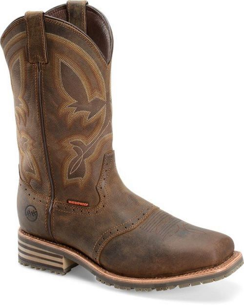 "Double H Jeyden DH4124 11"" Wide Square ICE™ Roper Western Boot Waterproof"