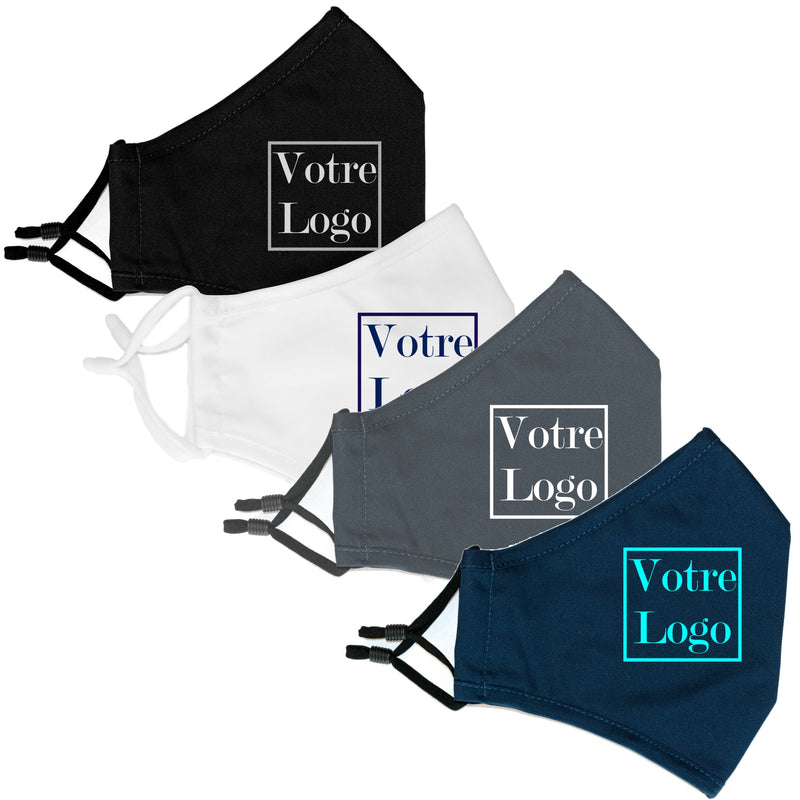 50 Customizable ergonomic masks in washable fabric + filter included (4492112789562)